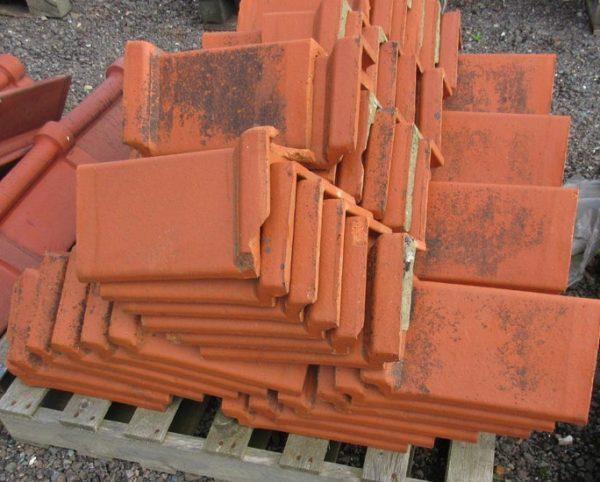 Red Triangular Interlocking Clay Ridge Tile