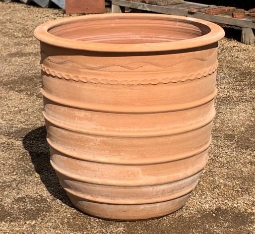 Rimmed Terracotta Pot Handmade