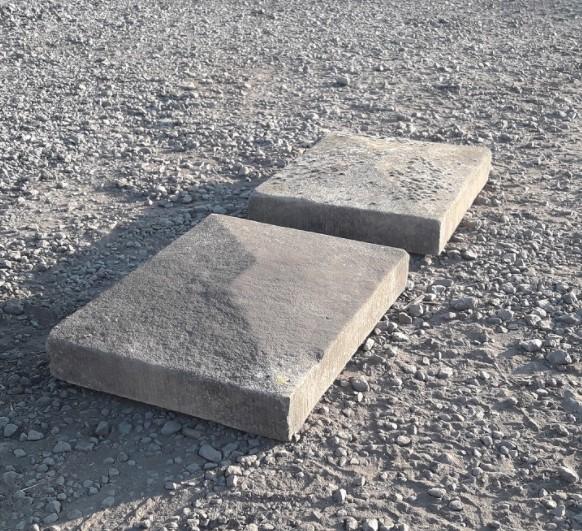 Sandstone Pyramid Pier Caps