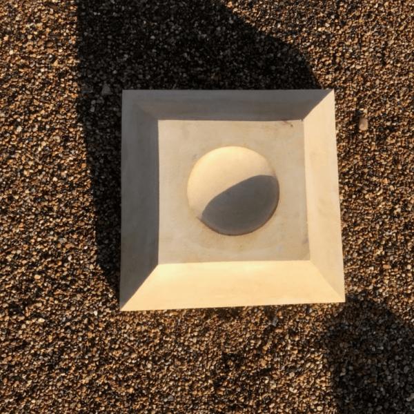 "Teak Sandstone Plinth for 12"" Ball"