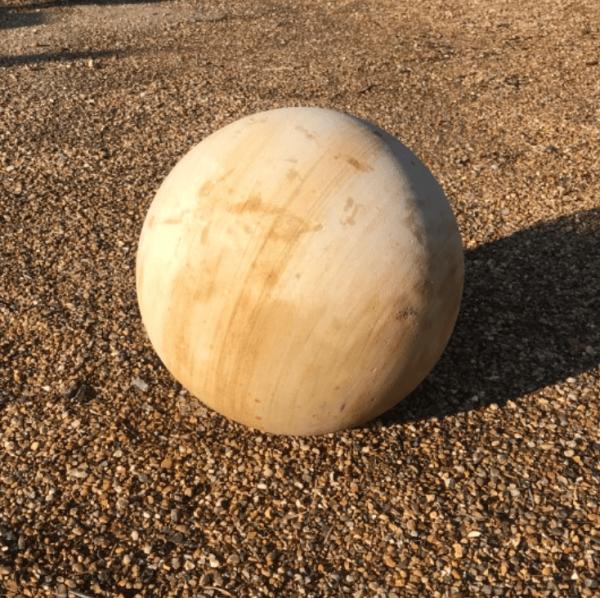 "12"" Teak Sandstone Ball"
