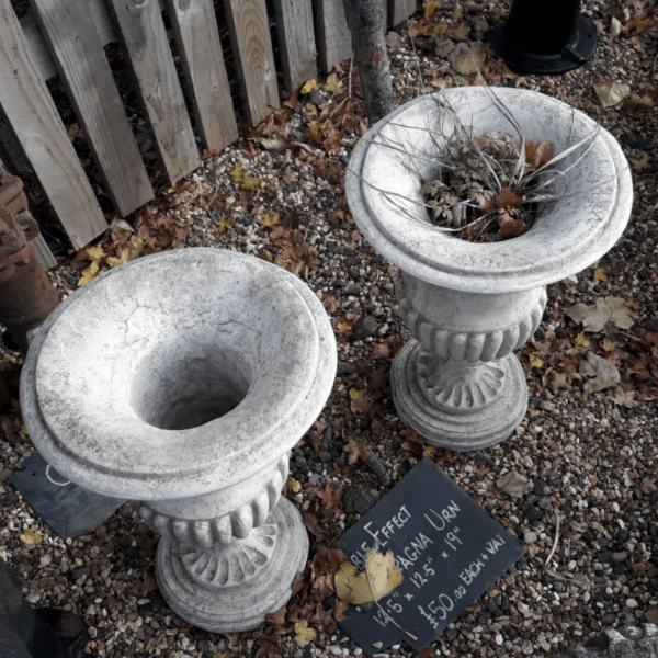 Small Stone Urns