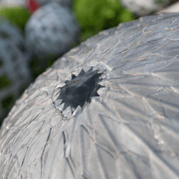 Zinc Leaf Ball Water Feature