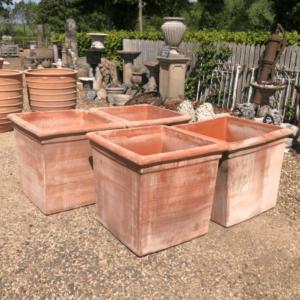 Italian Cube Handmade Terracotta Pots