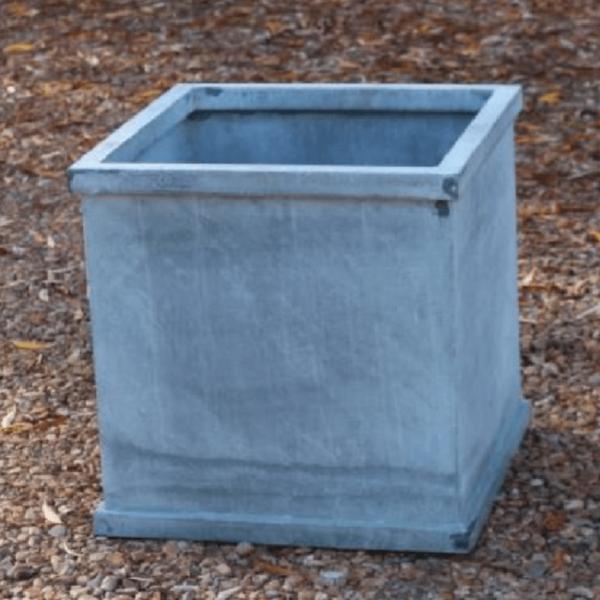 Turin Square Zinc Planter