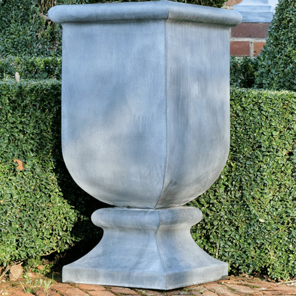 Medium Zinc Urn Planter Roma by A Place in the Garden