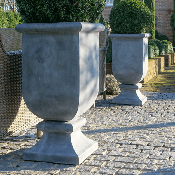 Zinc Urns by A Place in the Garden