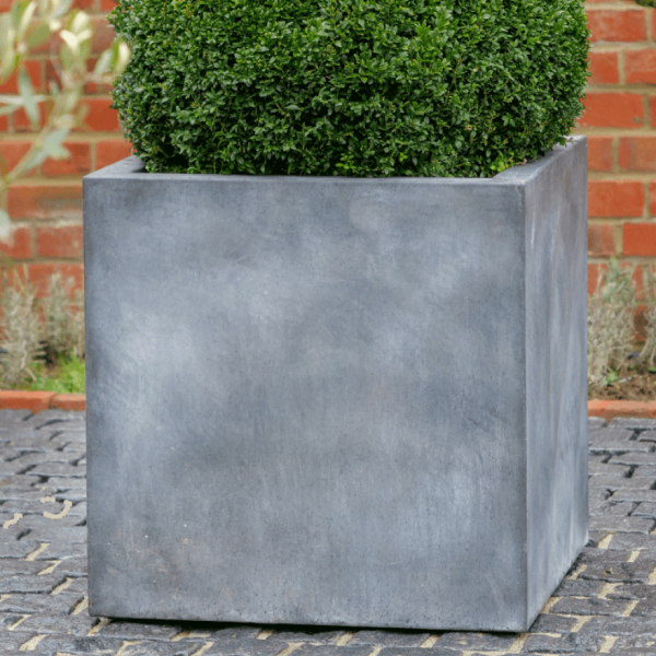 Metal Cube Planter by A Place in the Garden