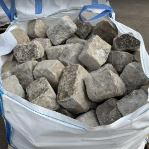 Silvery Grey Granite Cobbles For Sale