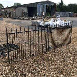 Steel Entrance Gates with Arrow Top