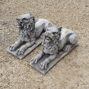 Reclaimed Stone Ornamental Lions