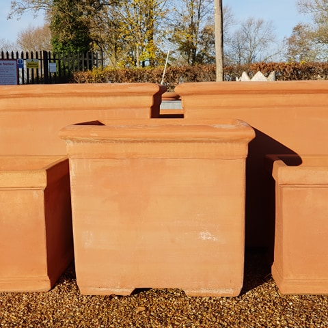 Terracotta Square Planter Handmade
