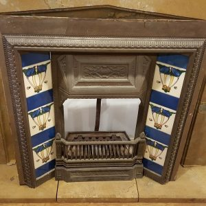 Tiled Cast Iron Fire Insert