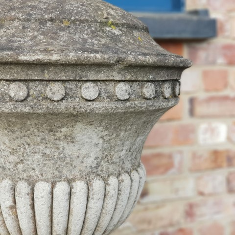 Reconstituted Urn with Decorative Detail