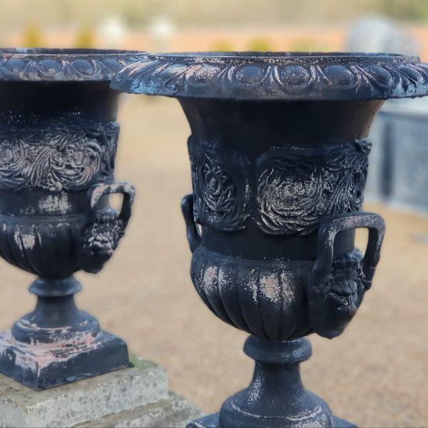 Reclaimed Victorian Cast Iron Urn
