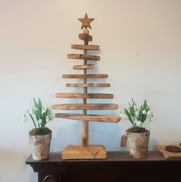 Wooden Driftwood Christmas tree