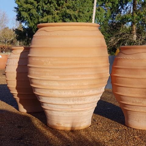 XL Handmade Cretan Olive Jar with Narrow Base 90cm