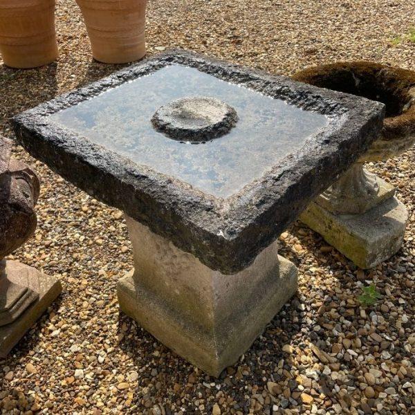 York Stone Composite Bird Bath