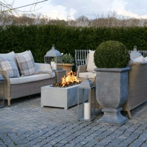 Zinc Gas Fire Pit by A Place in the Sun