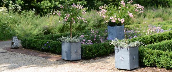 Small Metal Tree Planters