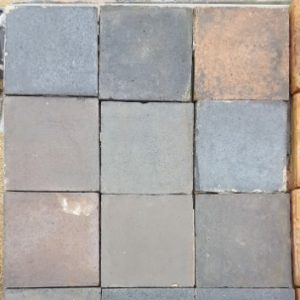 nine inch handmade blue quarry tiles