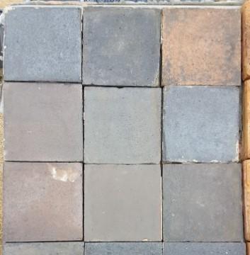 nine inch handmade blue quarry tiles