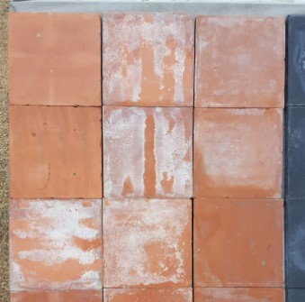 nine inch red machine made quarry tiles