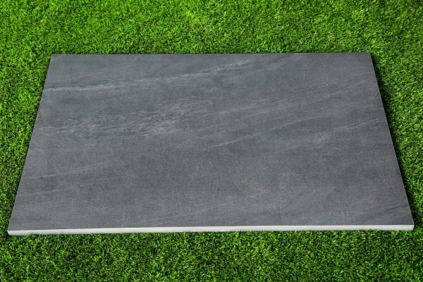 Single Slab of Black Porcelain Paving