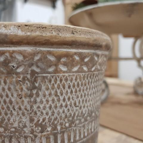 Patterned indoor pot - rustic bohemian
