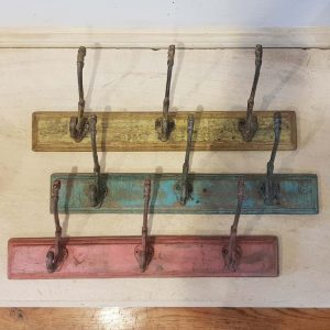 Hand painted wooden coat hooks