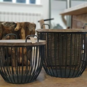 Wooden Coffee Side Tables with Lid and Storage