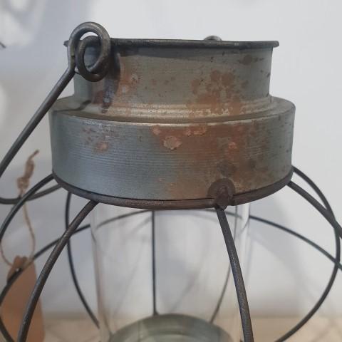 Antique effect round lantern small (Small)