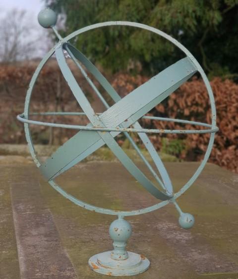 Handmade Iron Green Armillary Sphere