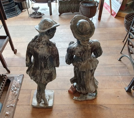 Back of reclaimed lead statues