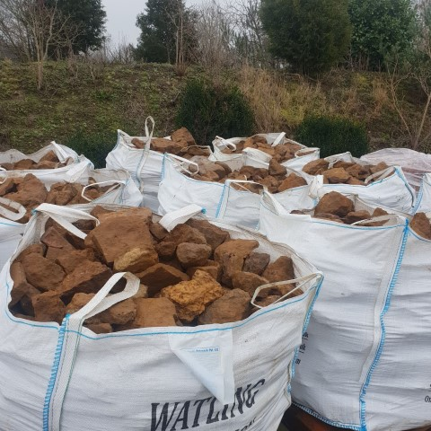 Bags of Ironstone Dry Stone Waling