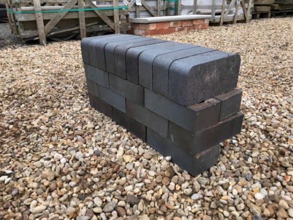 Double Tight Bullnose Blue Semi Glazed Brick Concessions
