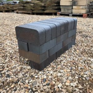 Blue Semi Glazed Double Tight Bullnose Brick Concessions