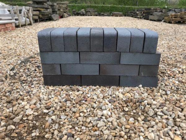 Blue Semi Glazed Double Tight Bullnose Brick Concessions