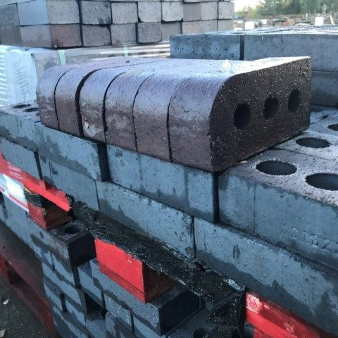 Brindle Semi Glazed Bullnose Brick Concessions