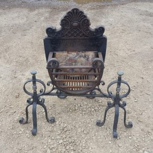 Cast Iron Ornate Fire Basket