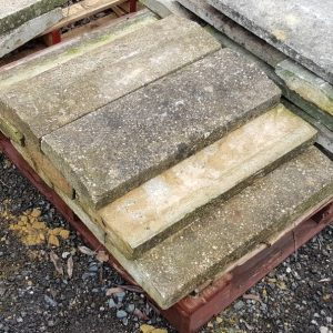 Reclaimed Batch of Concrete Triangular Wall Coping