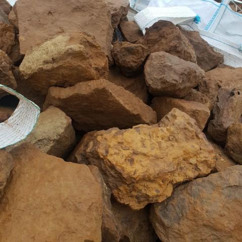 Ironstone Dry Stone Walling Close Up