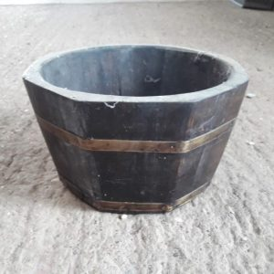 Octagonal Reclaimed Coal Bucket Wood