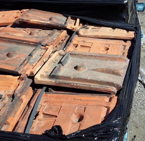 Pallet of Interlocking Clay Roof tiles