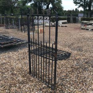 Reclaimed Wrought Iron Gate with Fleur de Lys Tops