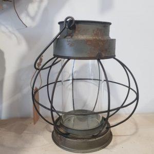 Round antique effect lantern (Small)