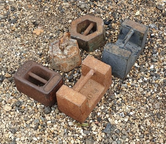 Small Cast Iron Weights