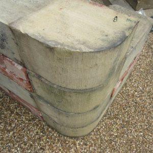 Stone Bullnose Quoin Reclaimed
