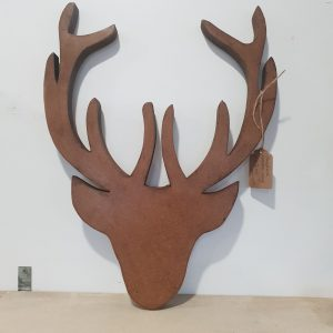 Wall hanging handmade wooden stag head