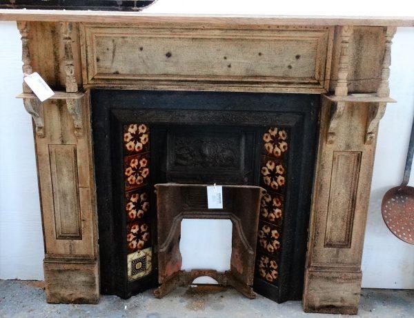 Tiled Cast Iron Fire Insert